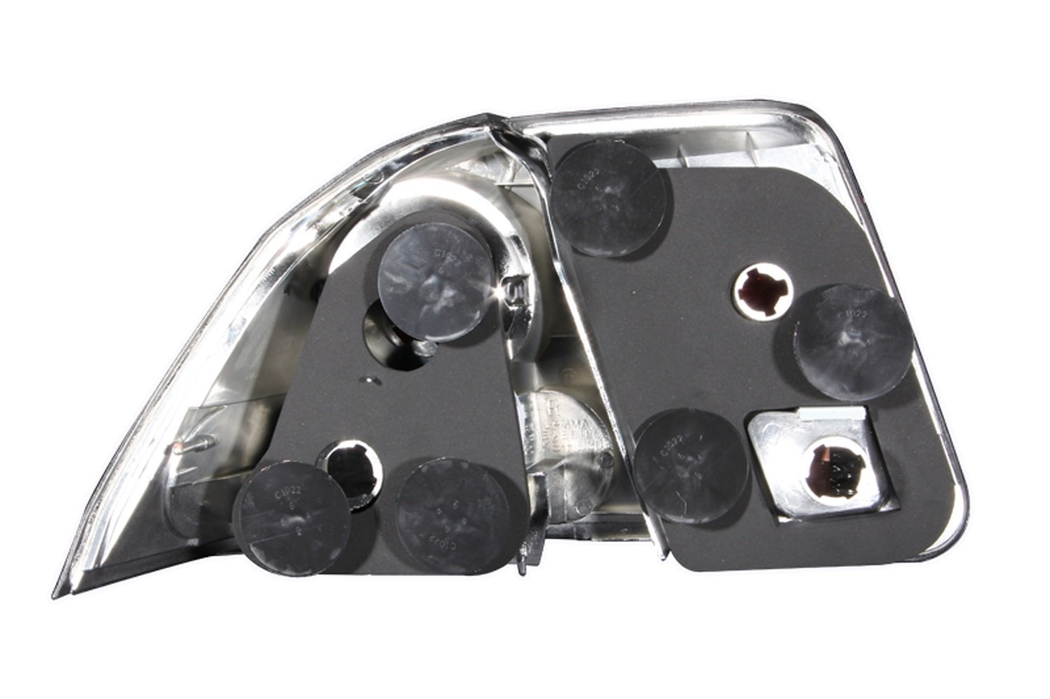 Anzo USA 221047 Honda Civic Chrome Tail Light Assembly Sold in Pairs