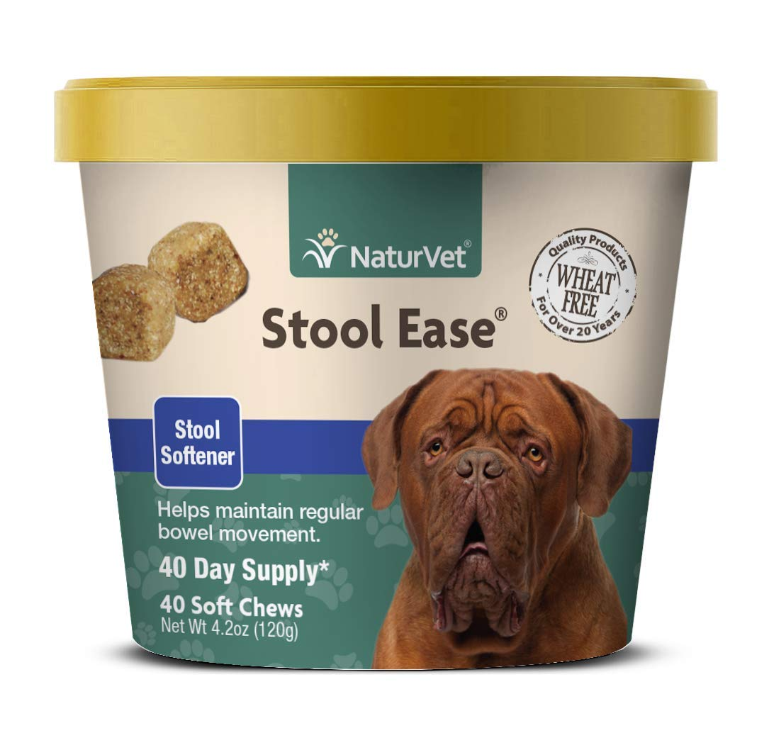 NaturVet - Stool Ease for Dogs - 40 Soft Chews - Helps Maintain Regular Bowel Movements - Enhanced with Sugar Beet Pulp, Flaxseed & Psyllium Husk - 40 Day Supply by NaturVet