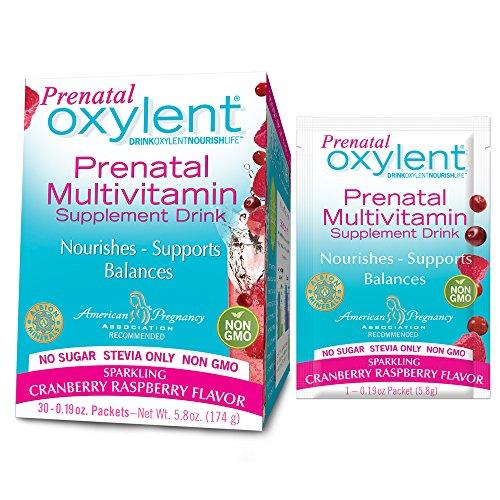 Oxylent prenatal, chispeante arándano frambuesa 30-cuenta (5,8 onzas)