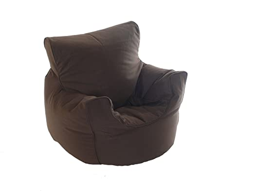 Kiddies Bean Bag Seat Arm Chair With Beans Chocolate