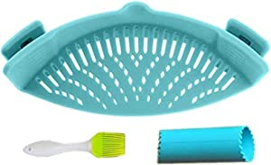 Clip-On Strain Strainer, Kitchen Food Filter, Safe and Fast Water Filtration, Suitable for All Pots and Bowls
