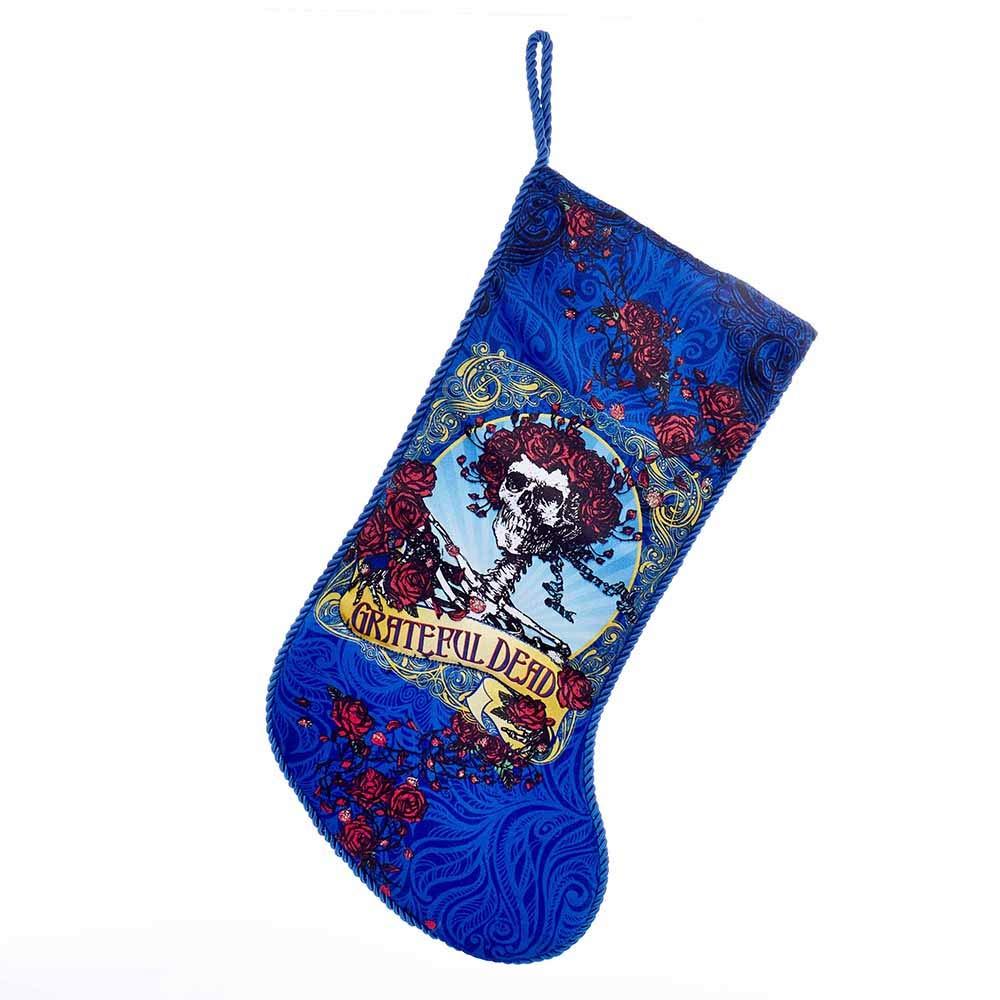 Adler Grateful Dead Blue Rose Skeleton Stocking Kurt Adler Kurt S