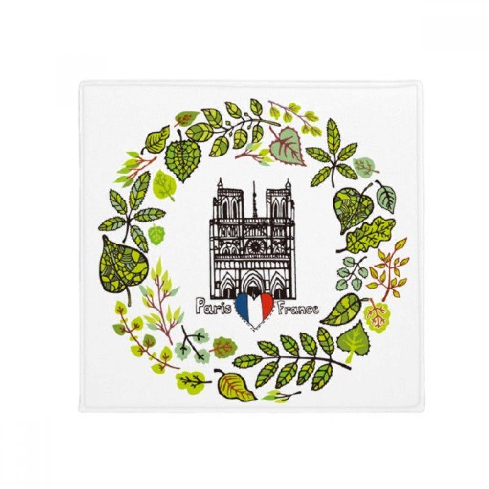 DIYthinker Notre Dame Cathedral Paris France Anti-Slip Floor Pet Mat Square Home Kitchen Door 80Cm Gift