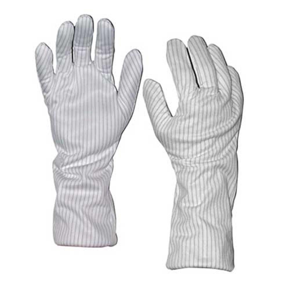 TT/_GL9102 StaticTek GL9100 14-Polyester ESD Safe Hot Gloves-Industrial Heat Resistant Gloves for Anti Static Work Stations-Medium,1 Pair