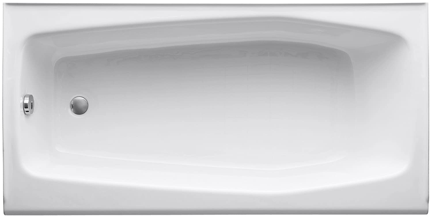 KOHLER K-715-0 Villager Bath with Left-Hand Drain, White ...