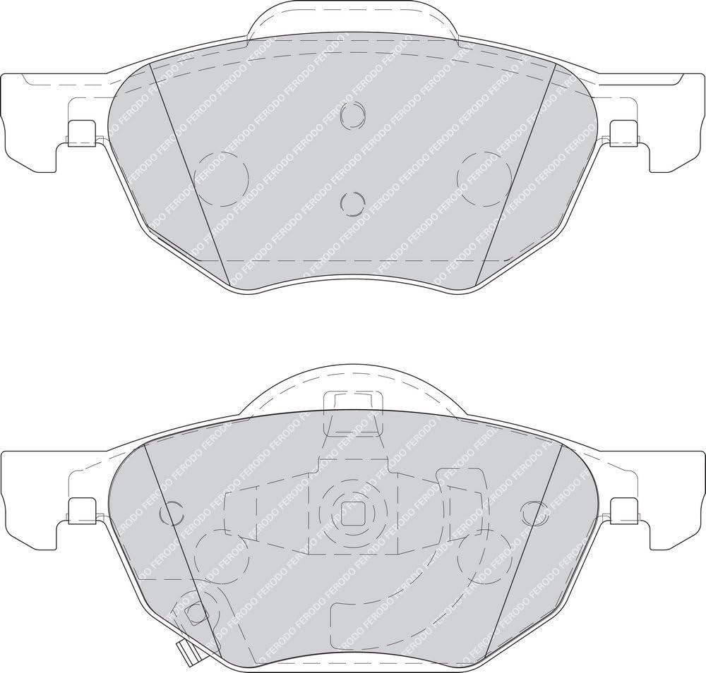Ferodo FDB1704 Brake Pad Set disc brake set of 4