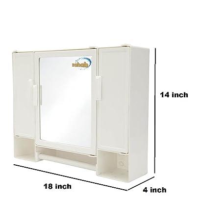 Zahab Pulse Three Door Plastic Cabinet White Amazon Home