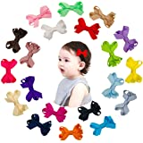 Shemay Tiny 2 inches Hair Bows Fully Covered Hair Clips for Baby Girls Toddlers Infants