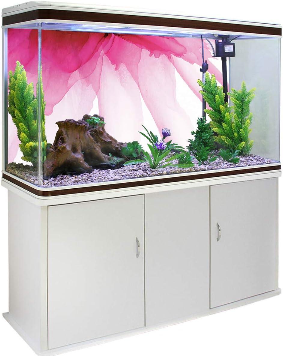 Pink Flower Closeup Spring Bloom Poster Adhesive Backdrop PVC Sticker T/&H XHome Aquarium Background Fish Reptile Tank Gallon Background Terrarium Decorations