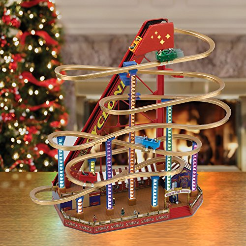 amazoncom mr christmas animated musical worlds fair grand roller coaster home kitchen - Mr Christmas Outdoor Decorations