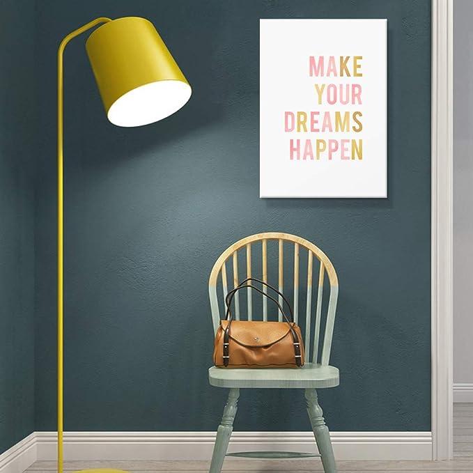 Home Decor Make It Happen Speedometer Dream Art//Canvas Print Wall Art Poster
