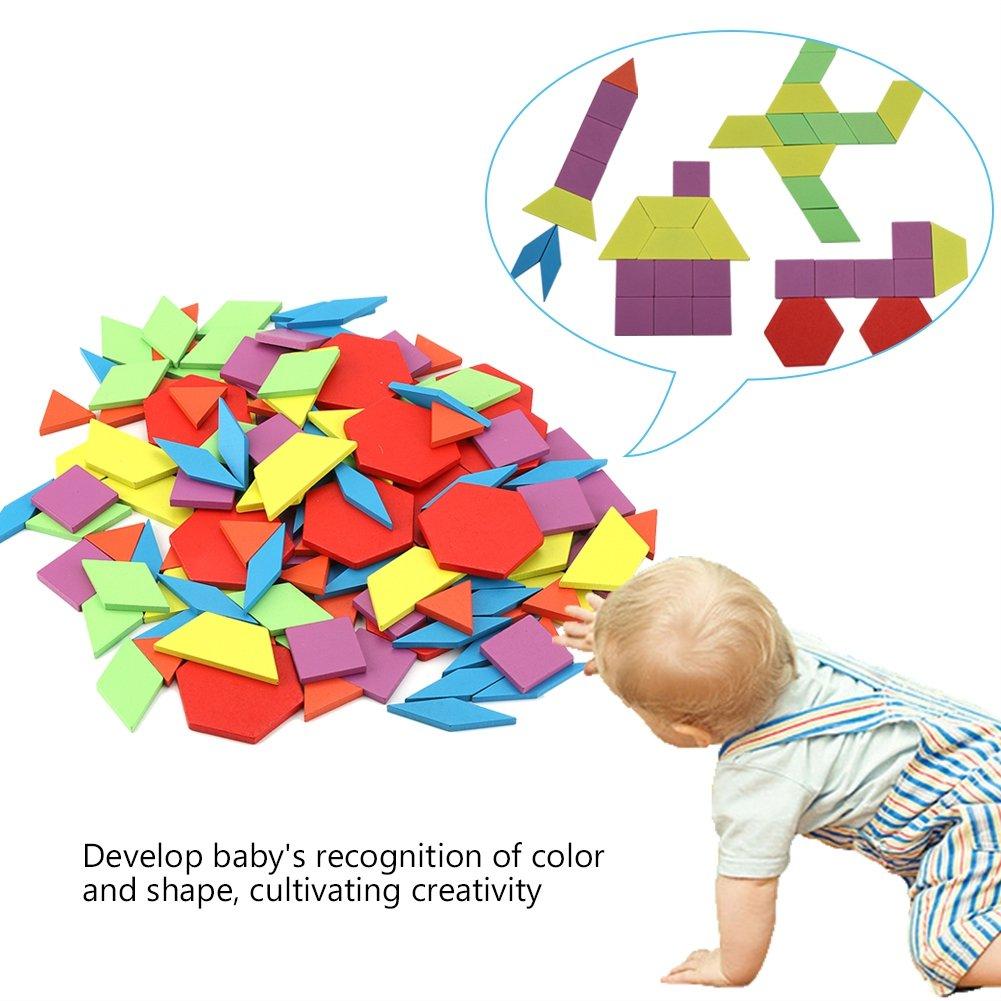 Zerodis Children Educational Wooden Toy Set Kids Preschool Training Props Geometric Shape Learning Resources Puzzle Blocks
