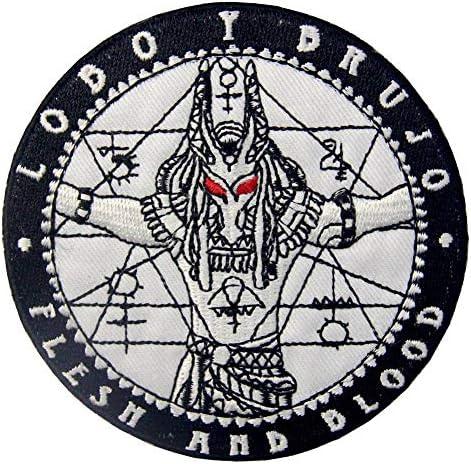 アヌビス死者の守護者刺繍のバッジのアイロン付けまたは縫い付けるワッペン