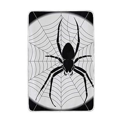 093c014befbf Amazon.com: Lilibeely Ultra Soft Microplush Velvet Spider Pattern ...