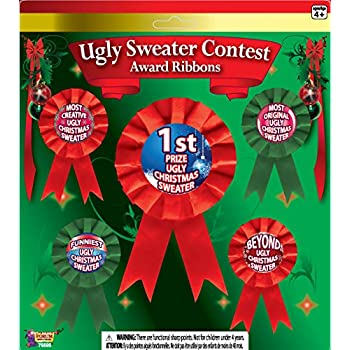 Amazon Com Fun Express Ugly Sweater Award Stickers Toys Games