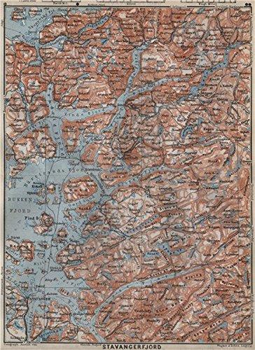 Amazoncom STAVANGERBOKNA FJORD Topomap Nedstrand Tau Sauda - Norway map amazon
