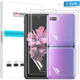 (3 Sets) Orzero Compatible for Samsung Galaxy Z Flip, Samsung Galaxy Z Flip 5G (Premium Quality) Edge to Edge (Full Coverage) Screen Protector, High Definition Anti-Scratch Bubble-Free (Lifetime Replacement)