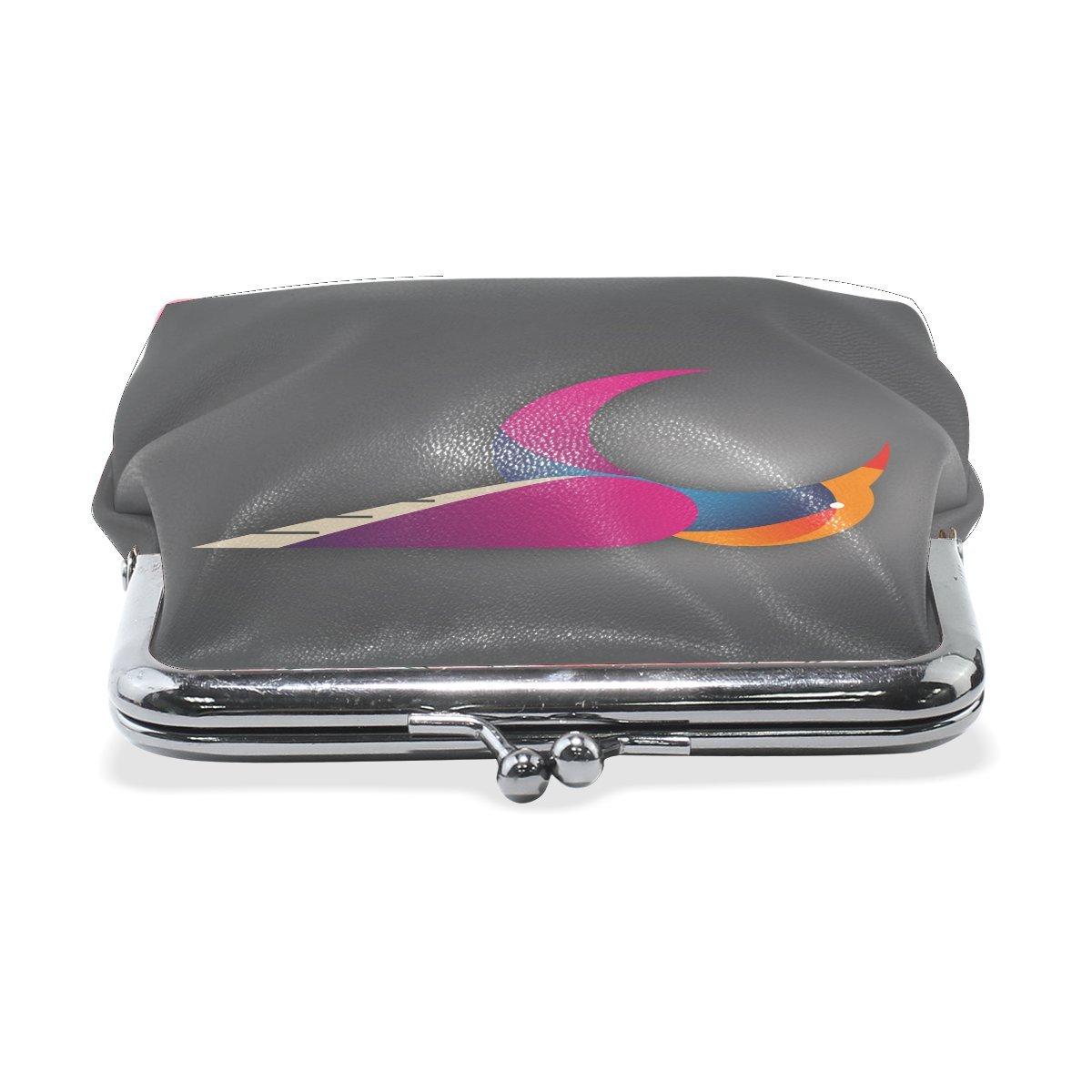 Women Animal Brid Hummingbird Colorful Print Wallet Exquisite Clasp Coin Purse Girls Clutch Handbag