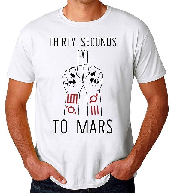 30 Seconds To Mars Design Camiseta para Hombres: Amazon.es ...