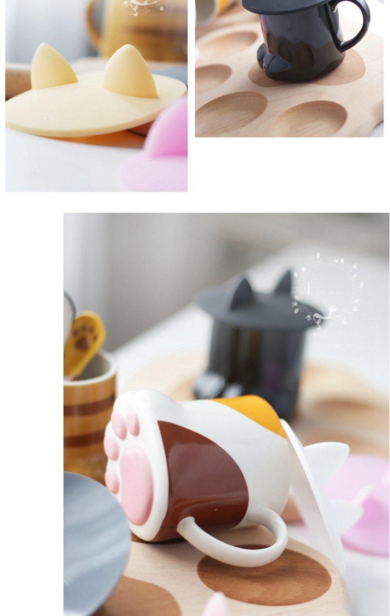 Autumn Water Pandapark Cute Creative Cat Paws Ceramic Personality Milk Mug Office Coffee Tumbler Breakfast Mugs Gift For Kids PPX016