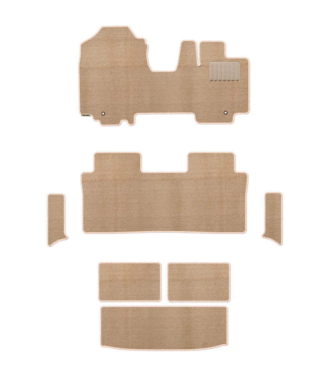 Hotfield スズキ スペーシア SPACIA MK53S フロアマット+ラゲッジマット+ステップマット / リアステップ形状:分割型 / プレーンベージュ B078WJ4CD5 リアステップ形状:分割型|プレーンベージュ プレーンベージュ リアステップ形状:分割型