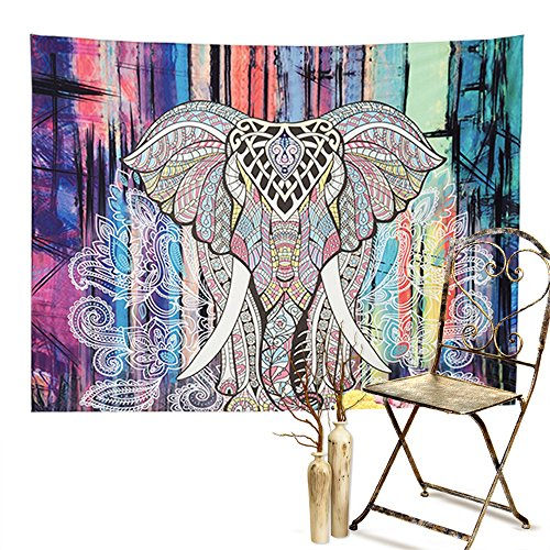 Sleepwish Hippie Indian Tapestry Elephant Mandala Throw Wall Hanging Gypsy Bedspread for living room