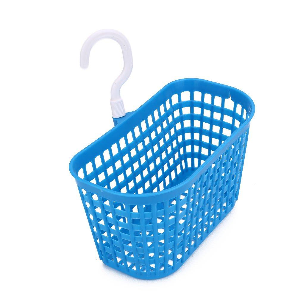 Kicode Plastic Bathroom Hanging Shower Basket for Shampoo Cosmetics(Blue)