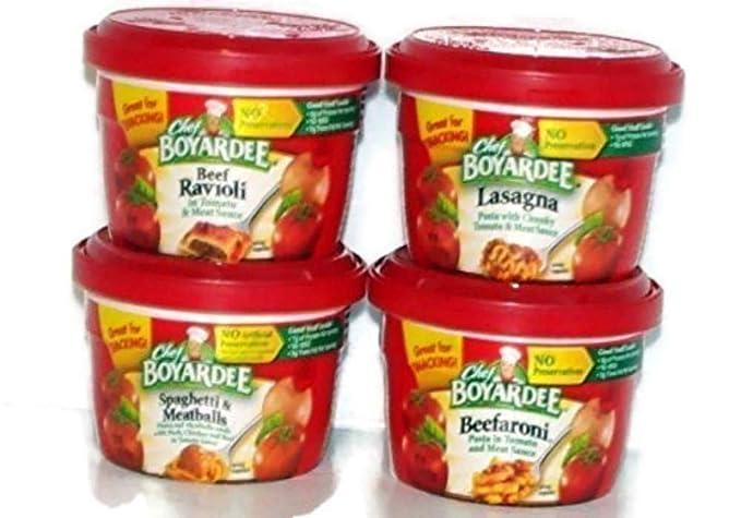 Chef Boyardee Variety Pack de 4 cuencos para microondas (7,5 ...