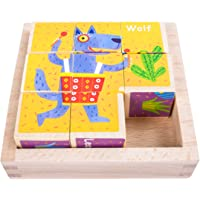 EKKONG Puzzles de Madera for Kids ,Animales Rompecabezas ,Juguetes Bebes, Jigsaw Wooden Puzzles Toy, Juguetes Montessori…