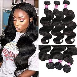 Eliana Hair Brazilian Body Wave 3 Bundles 20 22 24inch 8A Unprocessed Virgin Brazilian Body Wave Human Hair Natural Black Brazilian Virgin Body Wave Weft