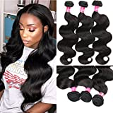 Eliana 8A Hair Brazilian Body Wave 3 Bundles 20 22 24inch Unprocessed Virgin Human Hair Bundles Body Wave Natural Black #1B Color Double Weft