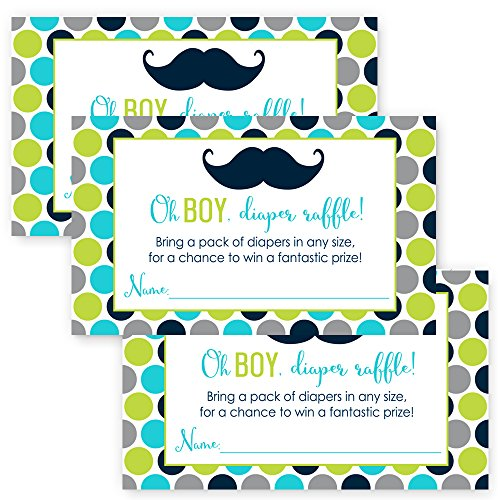 Paper Clever Party Mustache Baby Shower Diaper Raffle