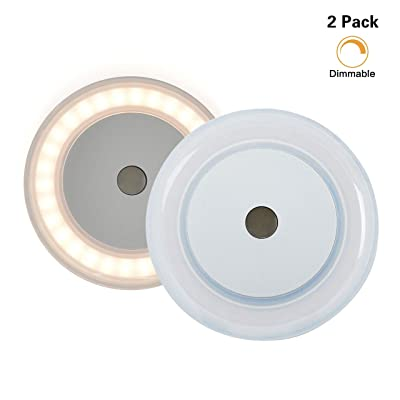 2 PK RV Boat Touch Ceiling LED Light - Genuine Marine DC 12V 3W 2800K Soft White Memory Light Annular Frosted Lens with Stepless Dimmable, Surface Mount, Hidden Fasteners Design, Stainless Steel Screw: Automotive
