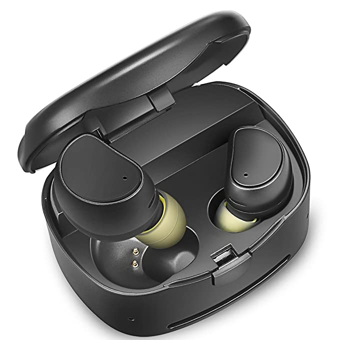 265fcc645ad Amazon.com: Soundmoov 316T Mini Wireless Earbuds with Charging Box ...