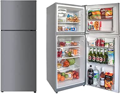 HEQS Stainless Steel 366L Top Mounted Frost Free Fridge