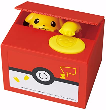 Resultado de imagem para itazura new pokemon go inspired electronic coin money piggy bank box limited edition by tomy