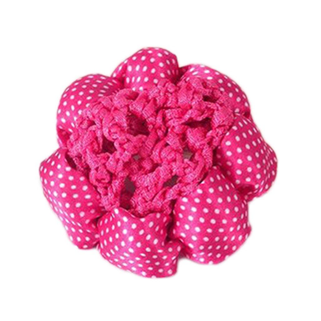 DISPLAY08donne DOT Shiny Bun copertura retina per capelli net Nets Ballet crochet fascia per capelli