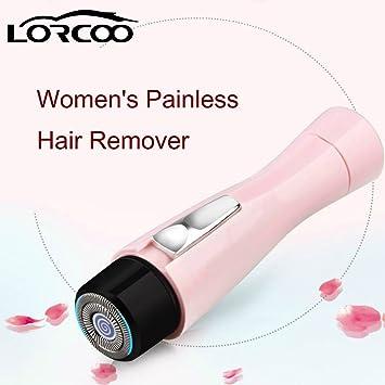 Lorcoo Afeitadora Femenina para Cara y Cuerpo, Color Rosa: Amazon ...