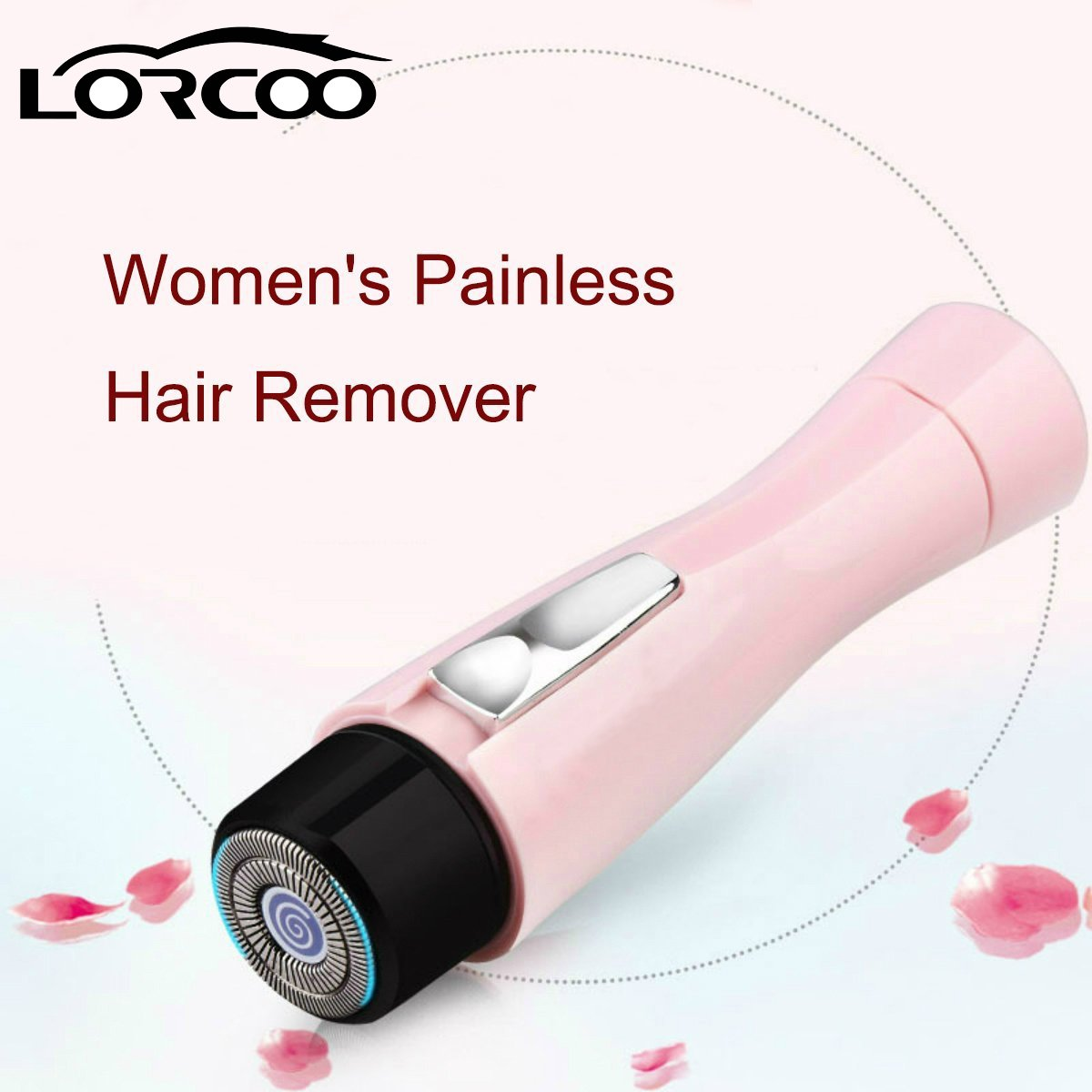 Lorcoo Women's Painless Hair Remover, Lady Electric Shaver Body Facial Shaver Perfect for Face/Leg/Hand/Bikini/Armpit