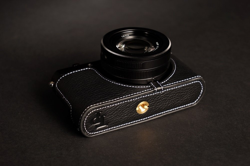Handmade Genuine real Leather Full Camera Case bag cover for Leica D-LUX Typ 109 Black color