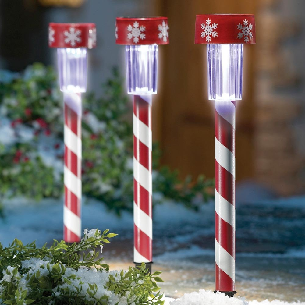 Amazon candy cane christmas solar light decorations by amazon candy cane christmas solar light decorations by collections etc landscape path lights garden outdoor mozeypictures Images