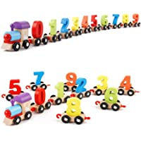 Happy GiftMart Wooden Colourful Train, Educational Model Vehicle Toys , Shape Pattern 0 to 9 Number, Educational Learning Toys