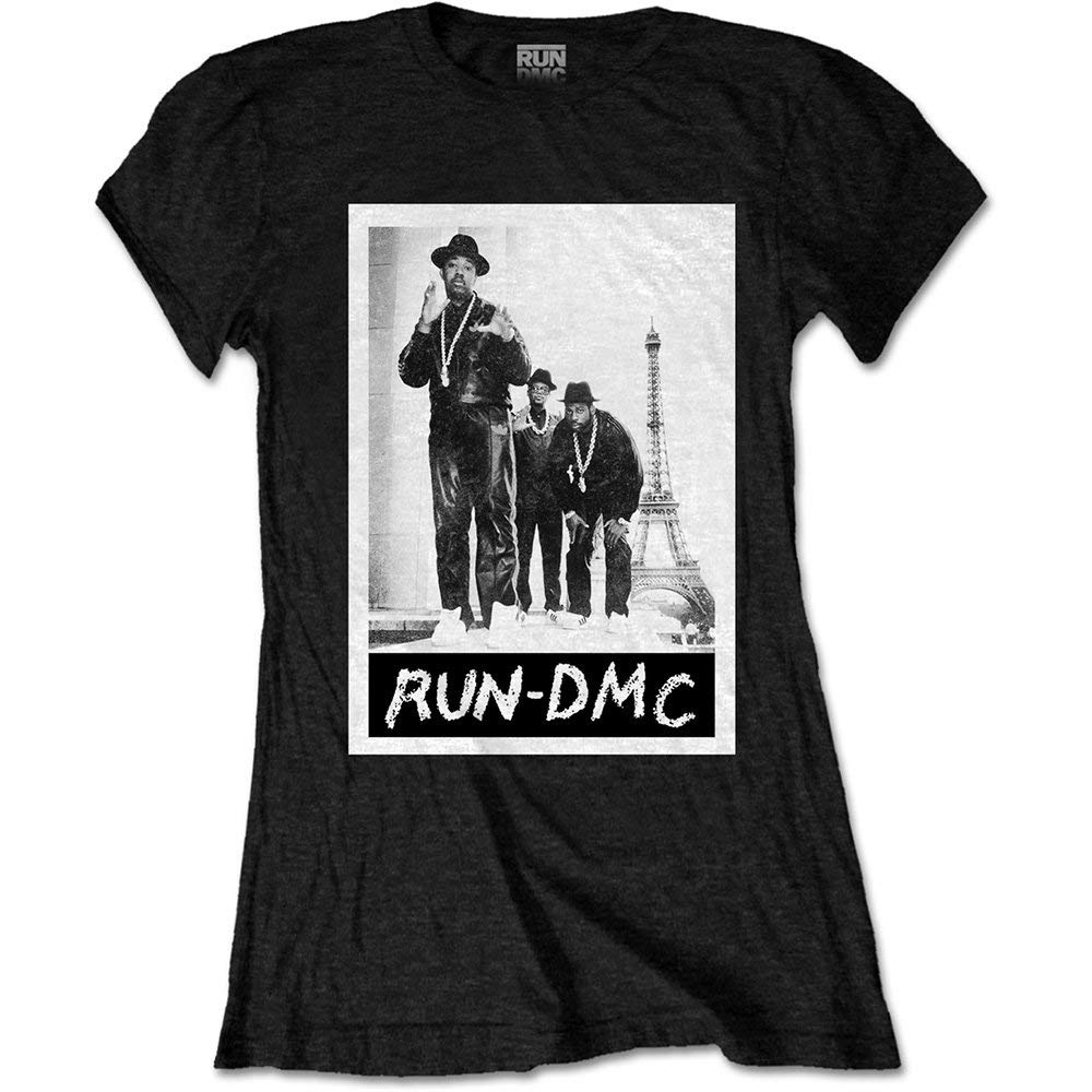 7ccca395e7 FZYN Ladies Run DMC Eiffel Tower Rap Tee T-Shirt Womens Girls Black:  Amazon.ca: Clothing & Accessories