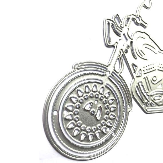 KIMODO Encaje Borde círculo Marco de Metal de Corte Mueren,Cortar Plantillas Troquelación Kit,Encaje Borde círculo Marco de Metal Plantillas, ...