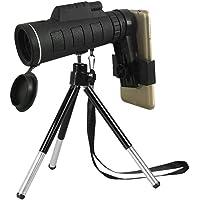 ENbeautter 40X60 Telescopio para Celular de Alta Potencia,HD Vision Zoom Alcance para la cámara del teléfono móvil Camping Senderismo Pesca con brújula Teléfono Clip trípode