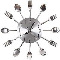 Gearmax® Cubertería plateado diseño moderno reloj de pared