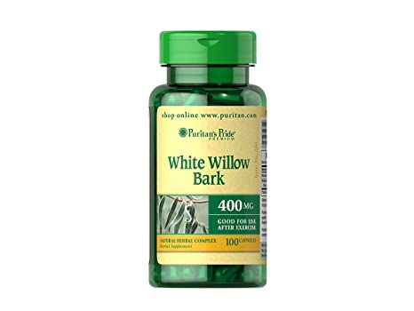 Corteza sauce blanco 400 mg. White willow bark 100 capsulas. 1 und.