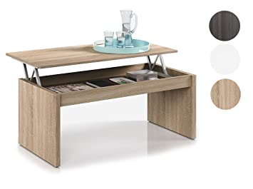 Habitdesign 001638F- Lift Top Coffee Table Storage, color canadian ...