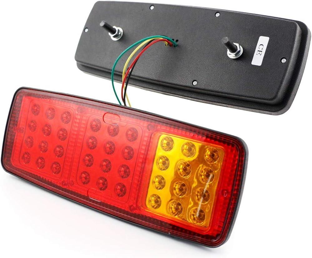 2/x 12/V LED Feux arri/ère avec 3/fonctions Design fin pour camion tracteur camping-car caravane Bus