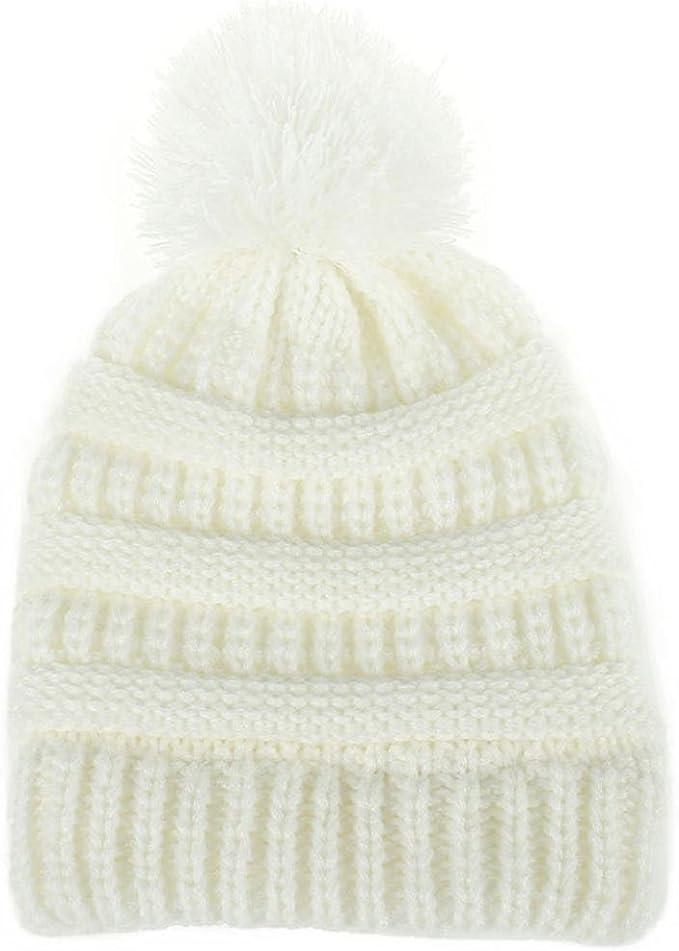 Recién nacido linda moda mantener calientes sombreros de invierno Sombrero de dobladillo de lana de punto bufanda Gorros Bebé invierno cálido sombreros Zapatos de bebé ropa bebe by Xinantime (Blanco): Amazon.es: Hogar